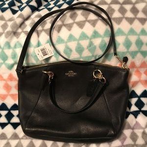 Coach Small Kelsey Leather Satchel - Black - NWT